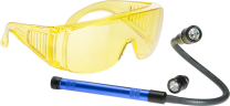 LED UV Lamp with Flexible Probe, two heads and UV Glasses